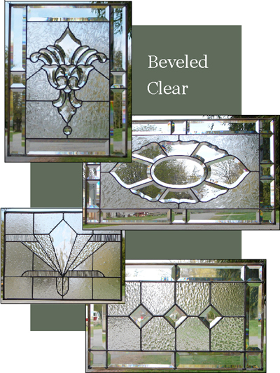 Clear Leaded Glass : Beveled glass window patterns designs pictures